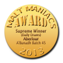 Awards-Medal-AWARD-2013-Supreme-DD-Aberlour